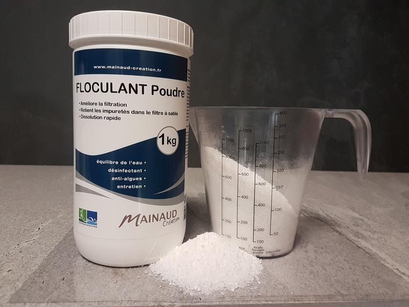 Floculant poudre 1kg mainaud cr ation for Aspirateur piscine 10m3